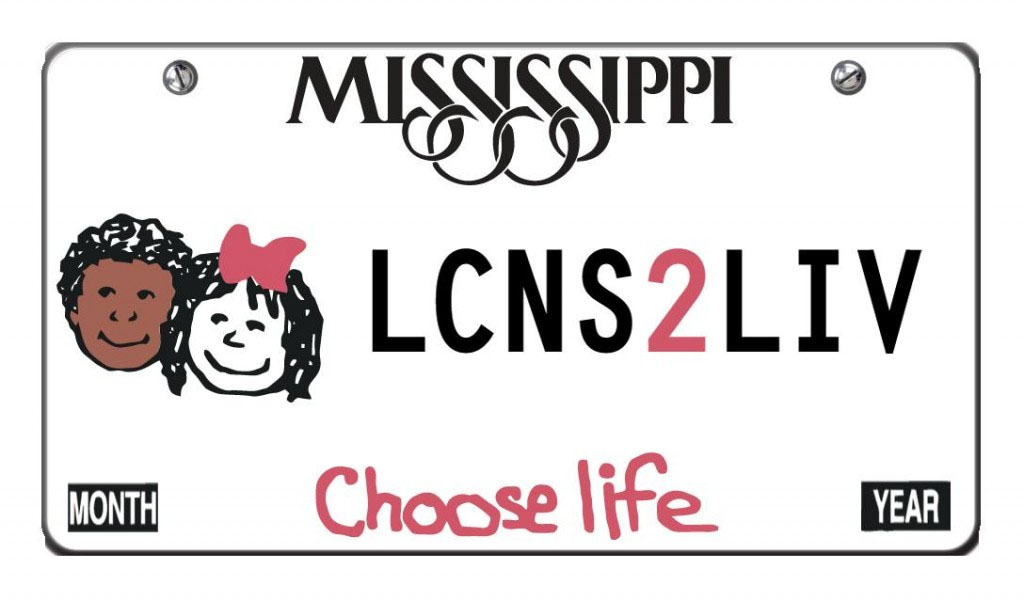 choose life tag with border lcns2liv wording